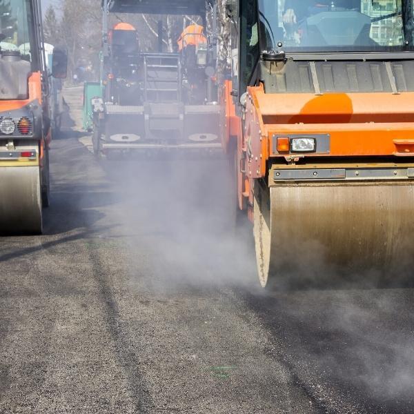 paving equipment on ontario road
