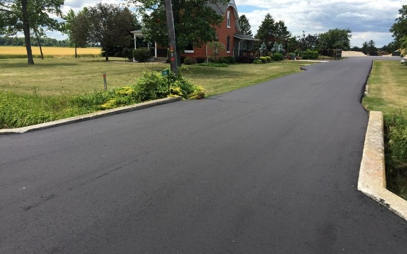 completed residential road