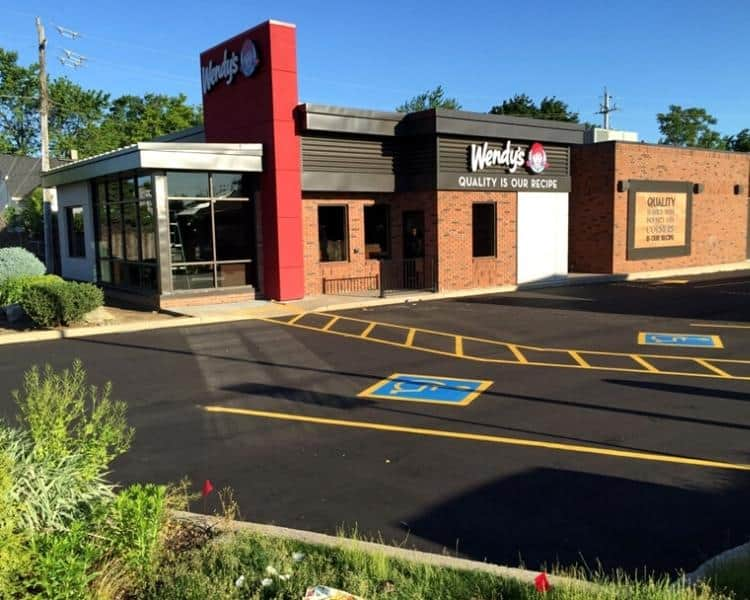 wendys parking lot and line painting project